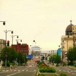 小樽駅からの港_日中